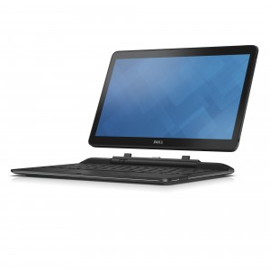 Dell Latitude 13 7000 Series (Model 7350), 13 inch 2-in-1 notebook computer, codename Crested Butte. The notebook keyboard is detachable, allowing it to perform as a tablet.  The image shows the screen detached from keyboard.