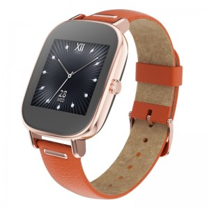 Rose-gold ASUS ZenWatch 2 with Leather Strap