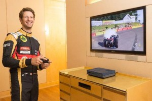 "Lotus F1 Team Driver Romain Grosjean gunning for his best race time in Xbox's exclusive ""Forza Motorsport 6"""