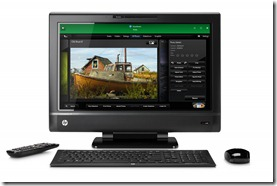 HP TouchSmart 620 3D Edition All-In-One PC, with keyboard, mouse and remote