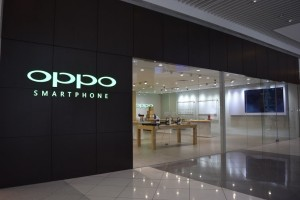 Storefront of Singapore's first OPPO retail flagship store in Suntec City Mall