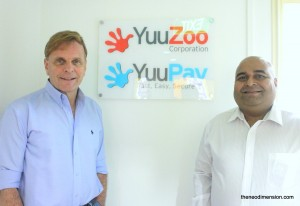 Mr Thomas Zilliacus, CEO of YuuZoo (left) and Mr Aru Adil Sayed, Head of Corporate Communication of YuuZoo (Right)