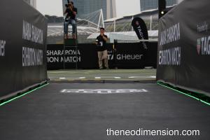 Entrance to the floating tennis platform