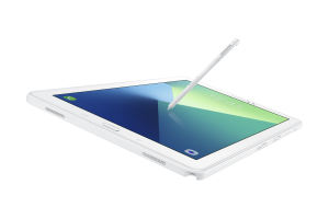 White Galaxy Tab A With Stylus. Photo: Samsung Singapore